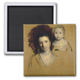 Georgiana, Countess Spencer and her Daughter Lady Square Magnet