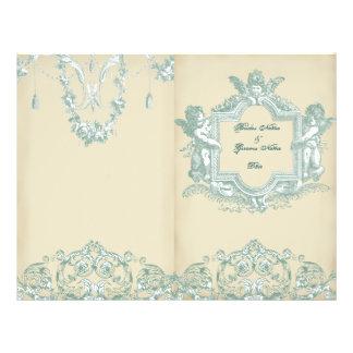 Georgiana (Cream) Bi-fold Wedding Programme
