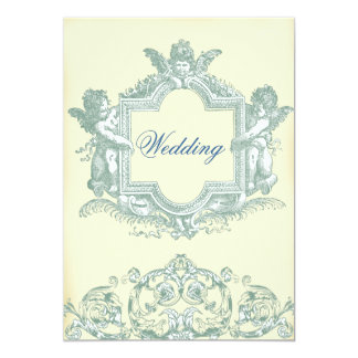 Georgiana (Cream) Wedding 13 Cm X 18 Cm Invitation Card