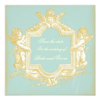 Georgiana (Marie Antoinette Blue) Save the Date 13 Cm X 13 Cm Square Invitation Card