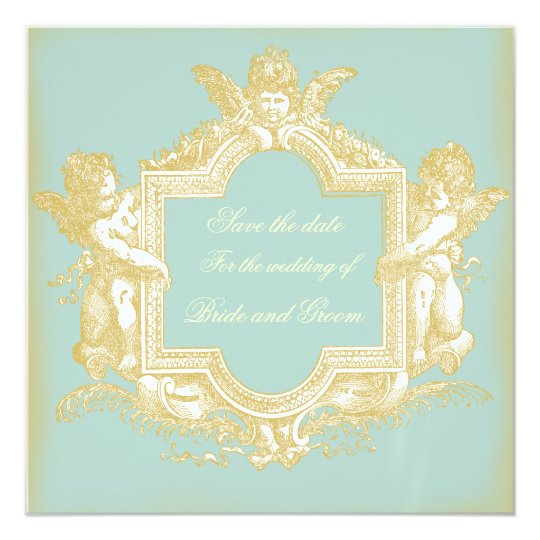Georgiana (Marie Antoinette Blue) Save the Date Card