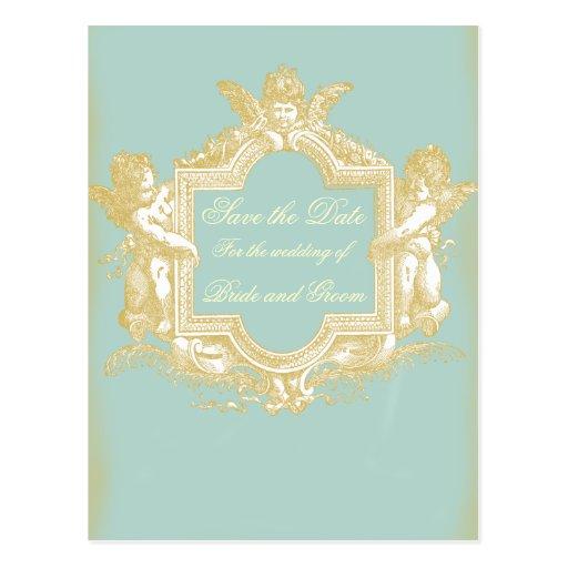 Georgiana (Marie Antoinette Blue) Save the Date Postcards