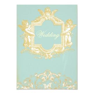 Georgiana (Marie Antoinette Blue) Wedding 13 Cm X 18 Cm Invitation Card