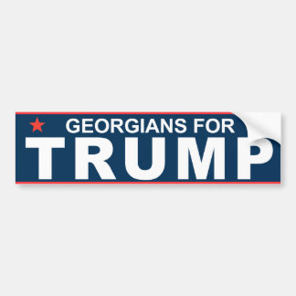 Georgians for Trump 2016 Bumper Sticker