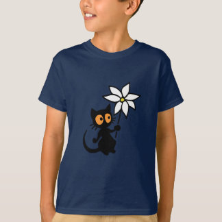 Georgie Cat with Flowers T-Shirt