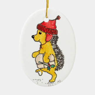 Georgie Hedgehog Christmas Ornament