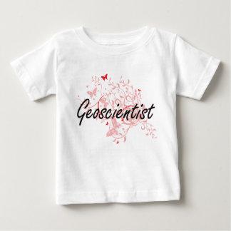 Geoscientist Artistic Job Design with Butterflies Tee Shirt