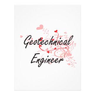 Geotechnical Engineer Artistic Job Design with Hea 21.5 Cm X 28 Cm Flyer