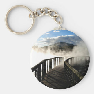 Geothermal Activity at Kuirau Park, New Zealand Keychain