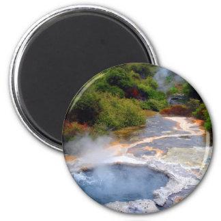 Geothermal Activity near Rotorua, New Zealand 6 Cm Round Magnet