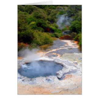 Geothermal Activity near Rotorua New Zealand Greeting Cards