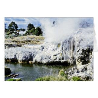 Geothermal Activity, Rotorua, North Island Greeting Card