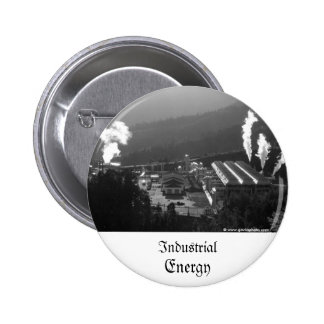 Geothermal instalations 6 cm round badge