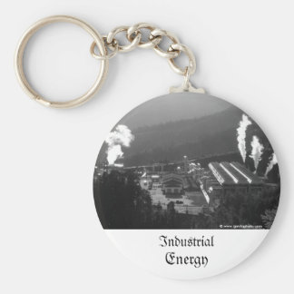 Geothermal instalations basic round button key ring