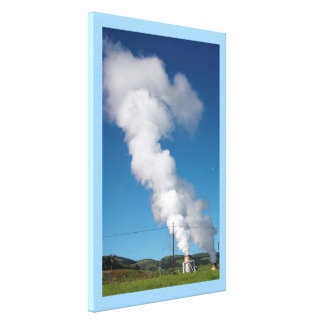 Geothermal instalations gallery wrapped canvas