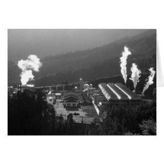 Geothermal instalations greeting card