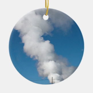 Geothermal instalations christmas ornament