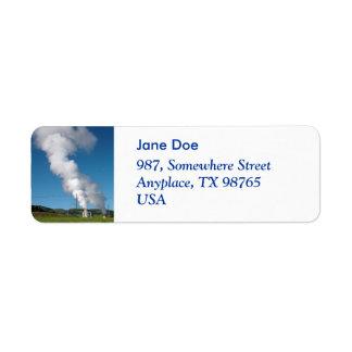 Geothermal instalations return address label