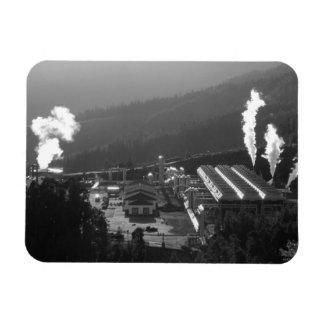 Geothermal instalations rectangular photo magnet