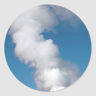Geothermal instalations round sticker