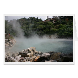 Geothermal Valley, (Hell Valley), Beitou, Taipei Greeting Card