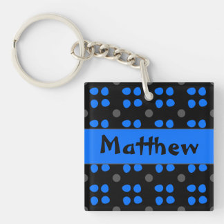 Gepersonaliseerde Stippen patroon Double-Sided Square Acrylic Key Ring