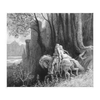 Geraint and Enid Ride Away Canvas Print