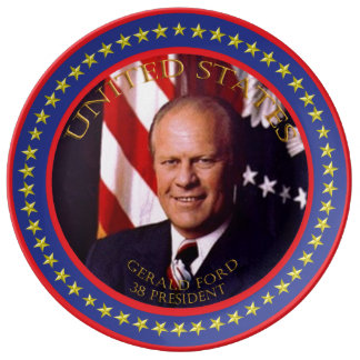 Gerald Ford 38th President Plate