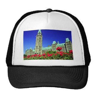 Geranium beds in full bloom on Parliament Hill Ot Trucker Hat