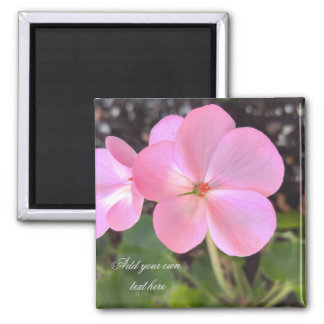 Geranium flower magnet add text you like