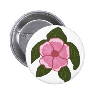 Geranium flower sea turtle button