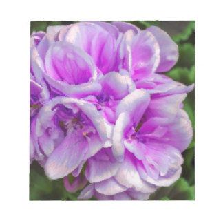 geranium  in the garden notepad