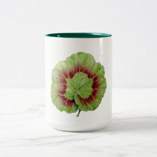 Geranium Leaf Hunter Green 15 oz Two-Tone Mug