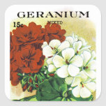 Geranium Seed Packet Label Square Sticker