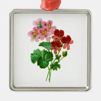 Geranium Variete by Pierre Joseph Redoute Christmas Ornament