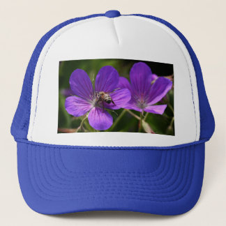 Geranium with Bee Trucker Hat