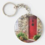 Geraniums by Red Door Keychain