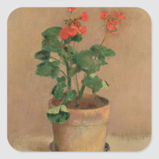 Geraniums in a Pot, c.1905 (oil on canvas) Sticker