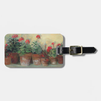 Geraniums in Pots Luggage Tag