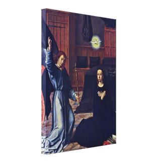 Gerard David - The Annunciation Gallery Wrap Canvas