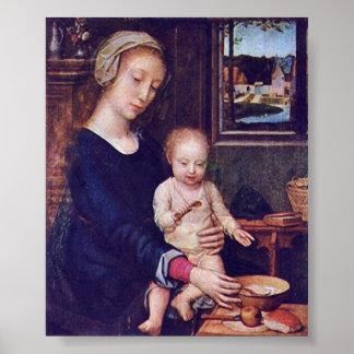 Gerard David - The Madonna of the Milk Soup Poster