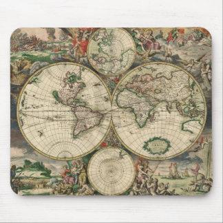 Gerard Van Schagen s Map of the World 1689 Mousepads