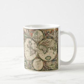 Gerard Van Schagen's Map of the World, 1689 Basic White Mug