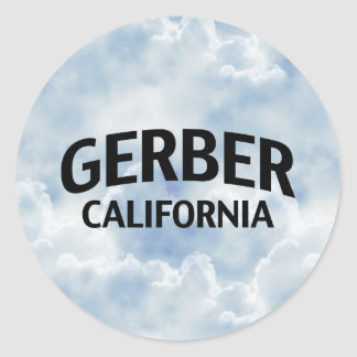 Gerber California Round Stickers