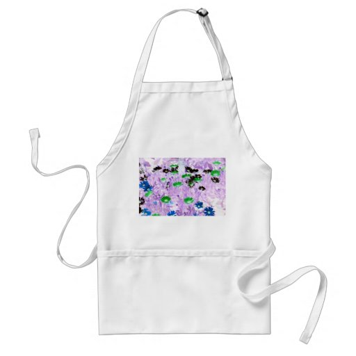 gerber daisies field multi colored flower invert aprons