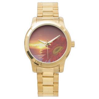 Gerber Daisy and sunset Watch