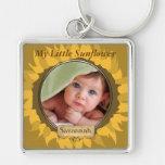 Gerber Daisy Baby Photo Key Chain