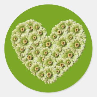 Gerber Daisy Heart Sticker