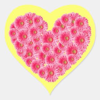 Gerber Daisy Heart Heart Stickers