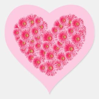 Gerber Daisy Heart Heart Sticker